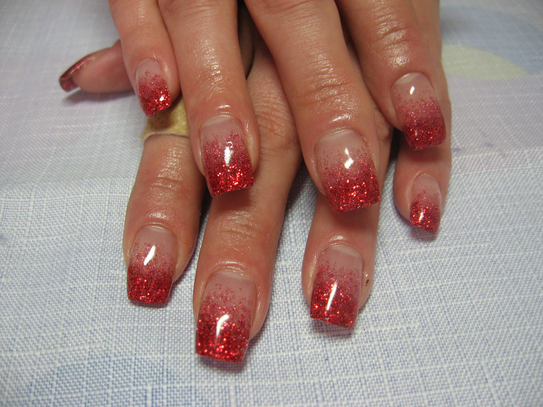 Фото дизайна ногтей гель с блестками