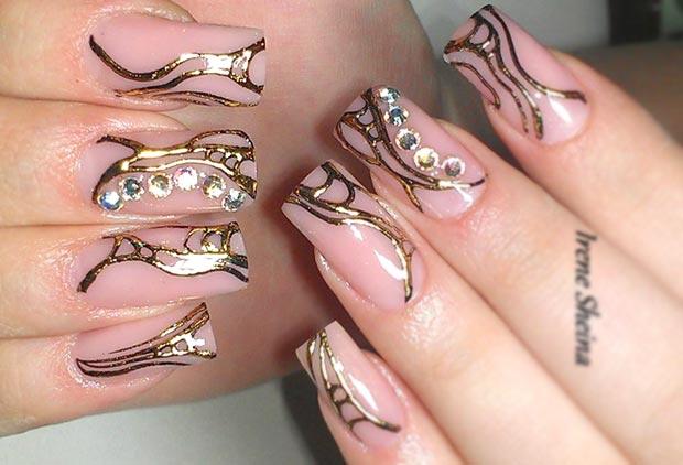 Как сделать литье на гель лаке на ногтях