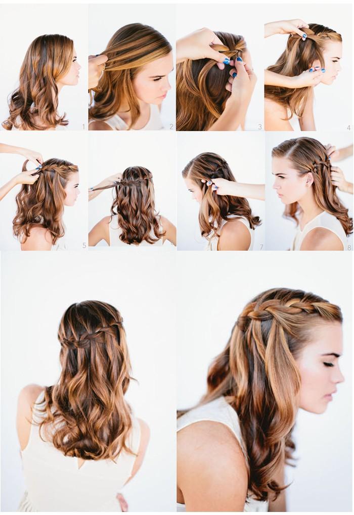 Прическа для средних волос своими руками косы