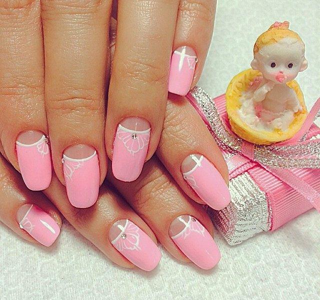 Ногти дизайн с лунками фото