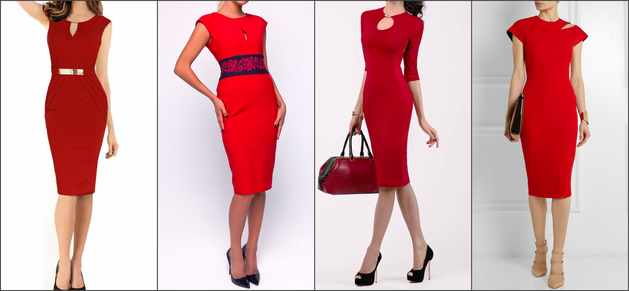 Какие украшения одеть к красному платью фото