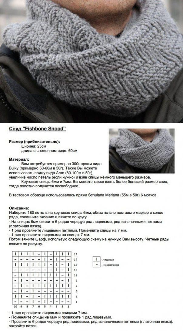 Вязание шарфов спицами схемами