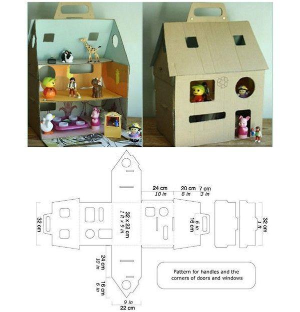 Как сделать из бумаги дом для куклы из