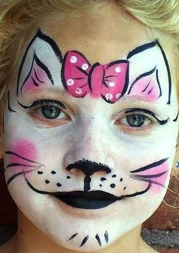 Раскраска на лицо фото