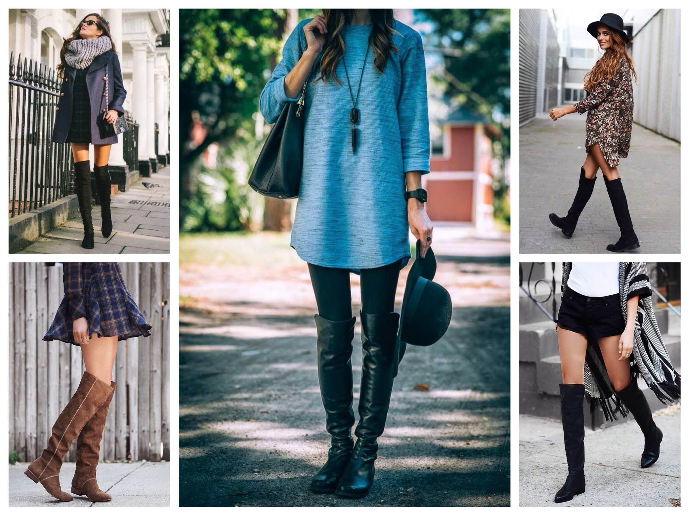 Что носить с ботфортами на каблуке зимой