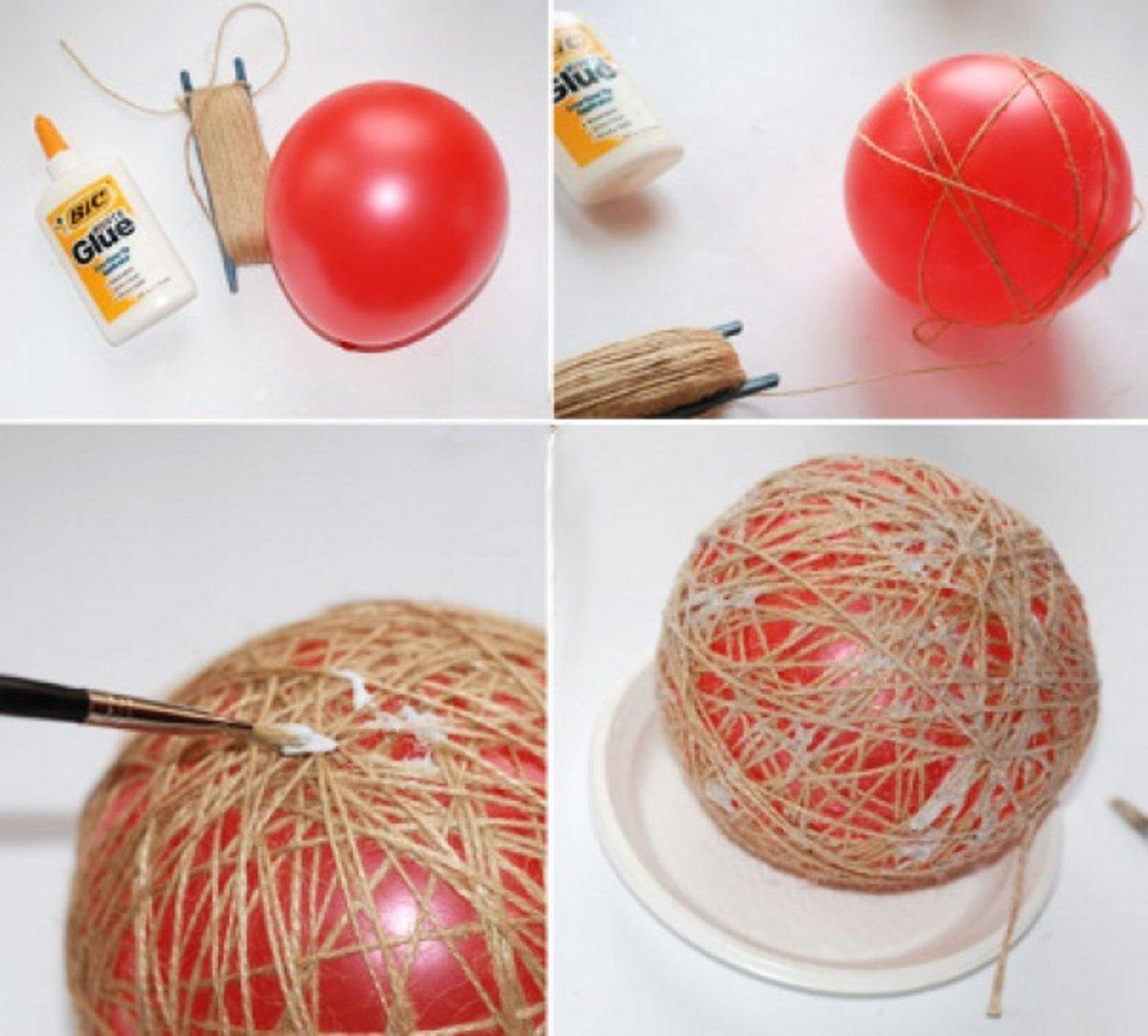 Как сделать ёлочные шары своими руками