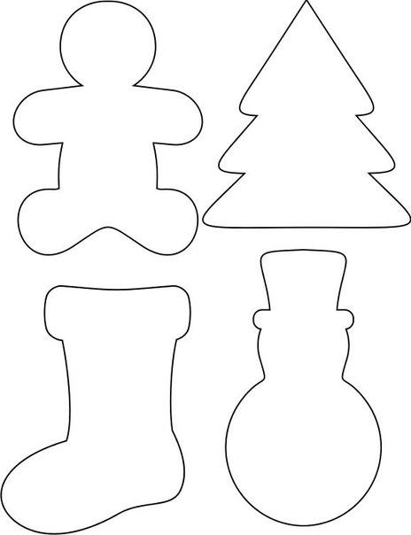 Выкройки игрушек новогодних из фетра
