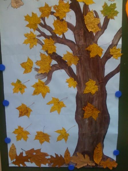 Кленовое дерево своими руками из листьев