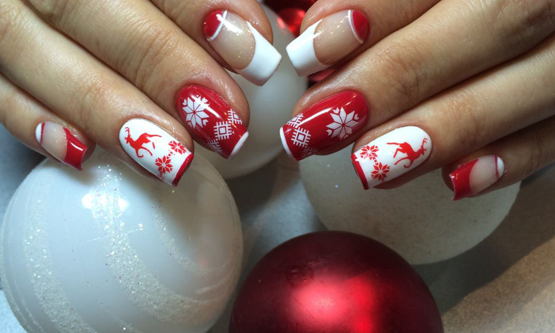Дизайн новогодний на ногтях фото