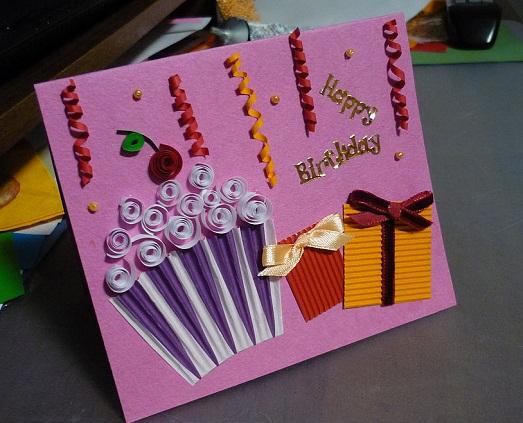 Открытки к дню рождения подруге своими руками