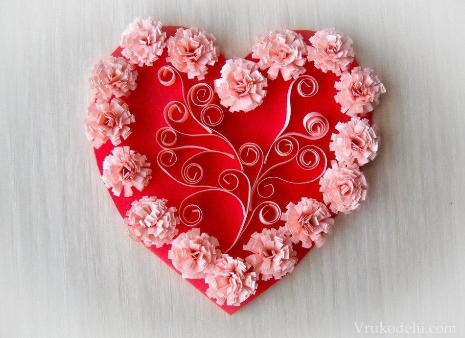 Красивую валентинку своими руками