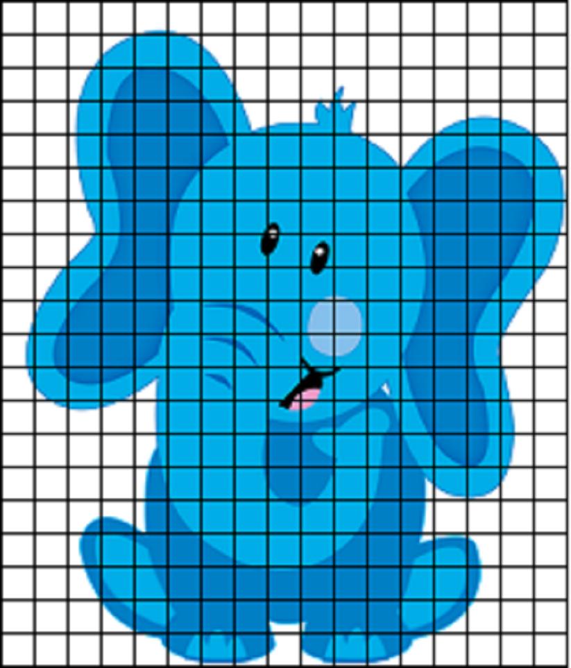 срисовка рисунка по клеточкам