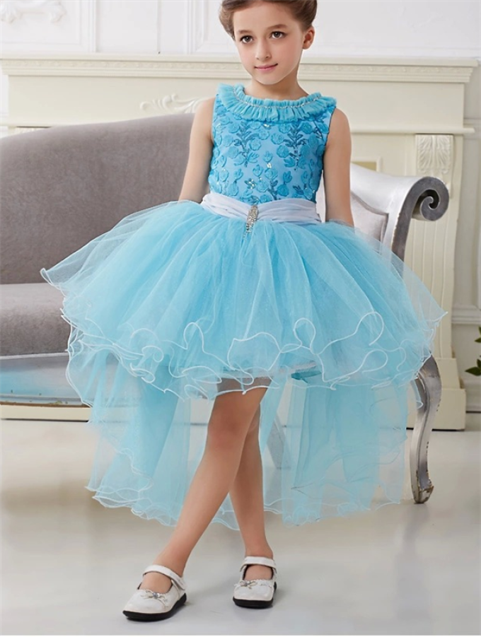 Платье с юбкой из фатина детское