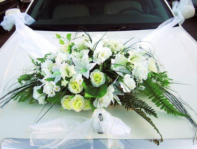 Цветы и букеты на свадебную машину своими руками