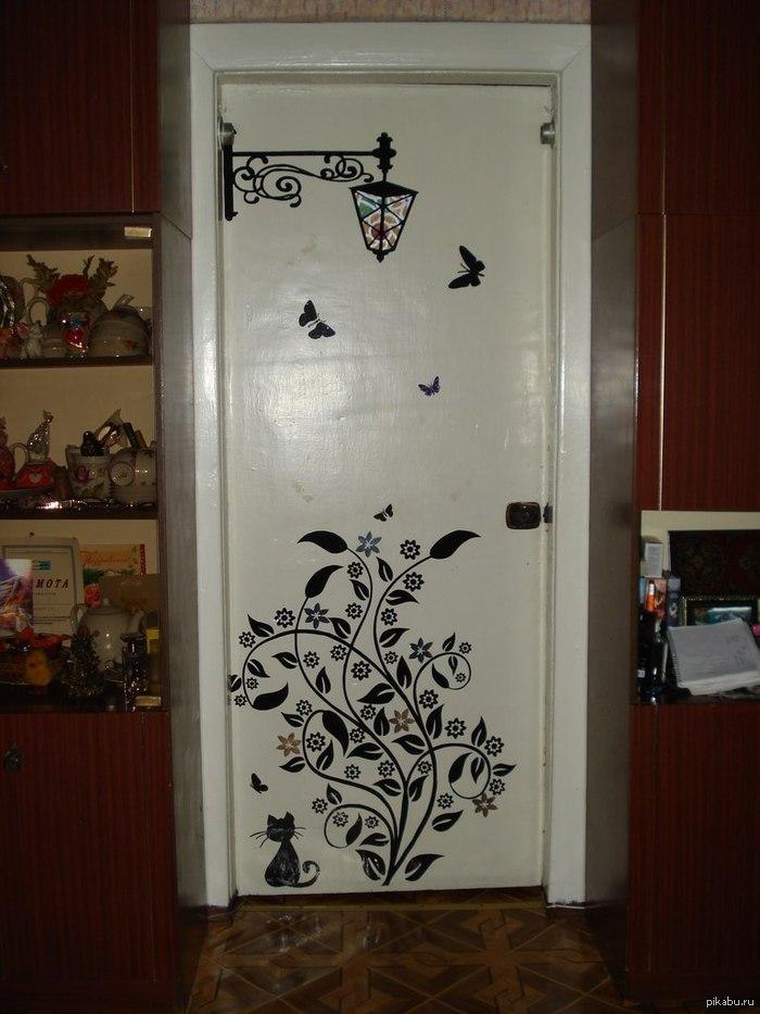 Разрисовка дверей своими руками 5