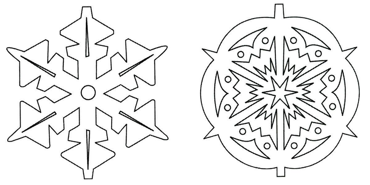 Снежинки из бумаги вытынанки