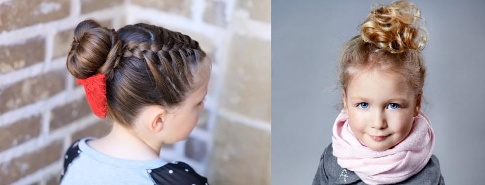 Прическа для девочек с кудрявыми волосами