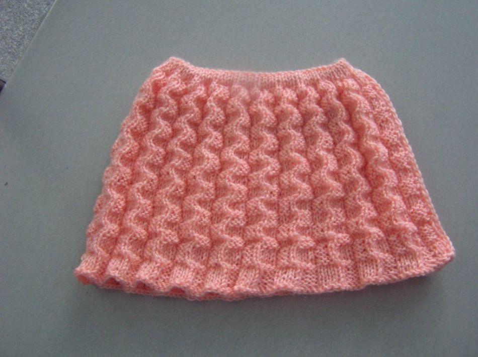 Красивая юбка спицами для девочки