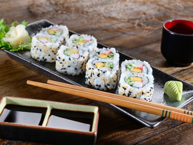 Калорийность суши и роллов таблица