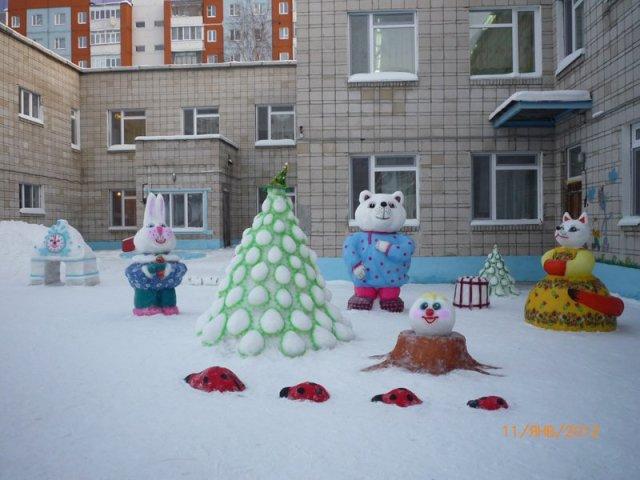 Снежные скульптуры  для детского сада 85