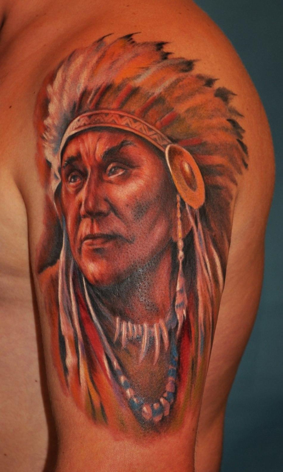 Татуировки с индейской тематикой фото