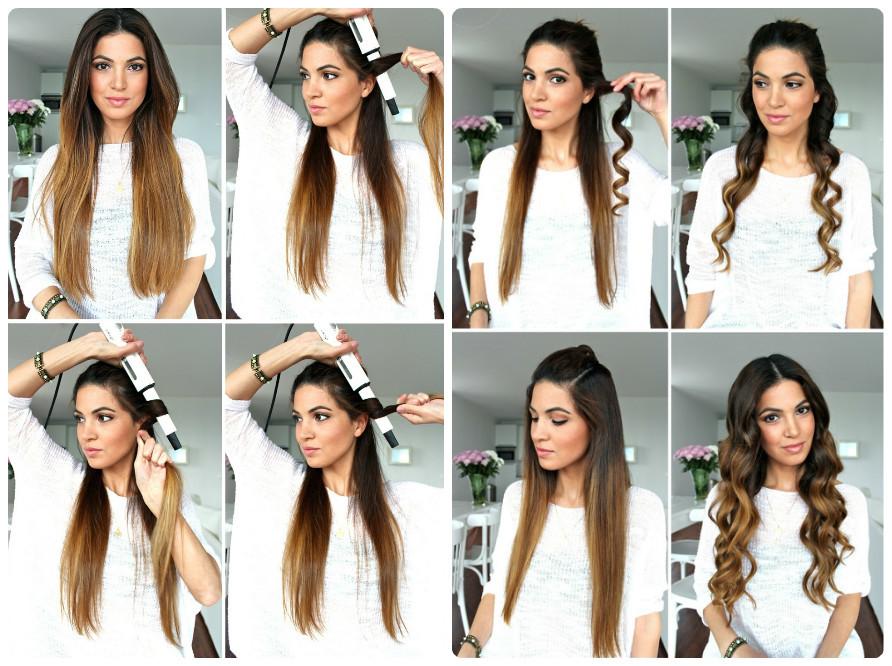 Как завить волосы немного