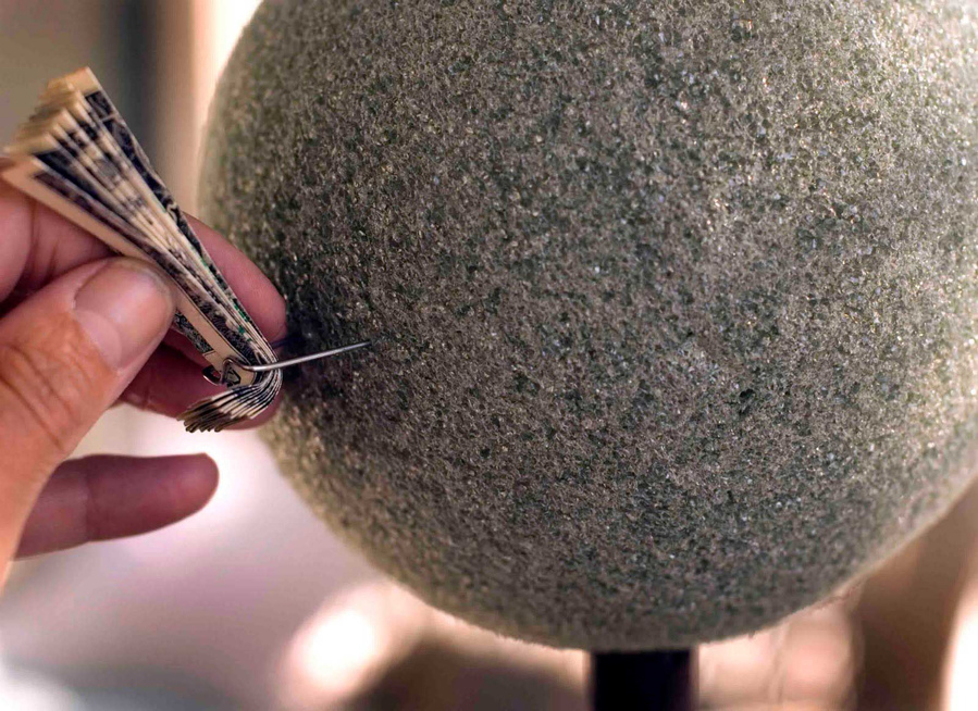 топиарий из монет своими руками пошаговое фото