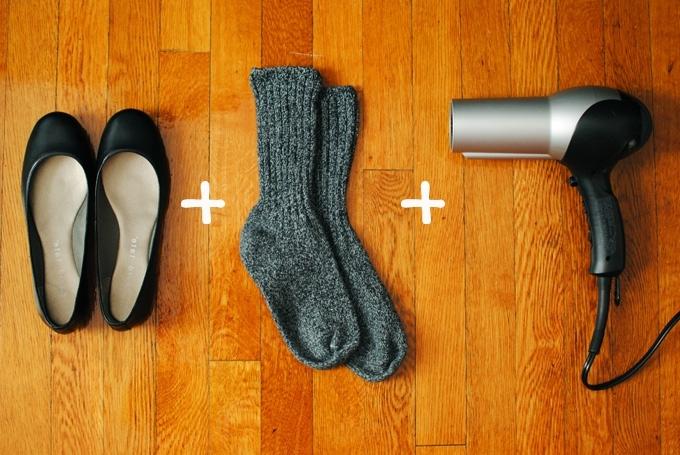 Увеличить размер обуви в домашних условиях