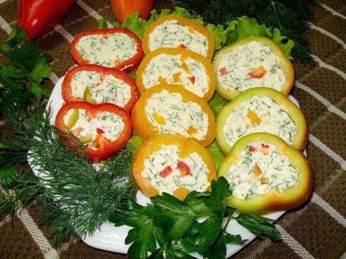 Фото рецепт салат из перцы фаршированные
