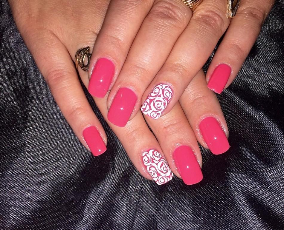 Коралловый цвет ногтей дизайн