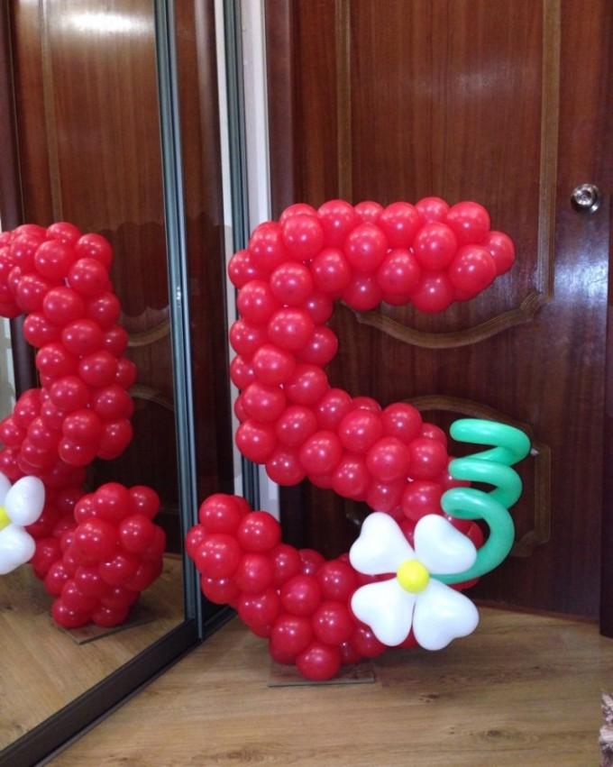 Как сделать цифру 3 из шаров своими руками Детские праздники