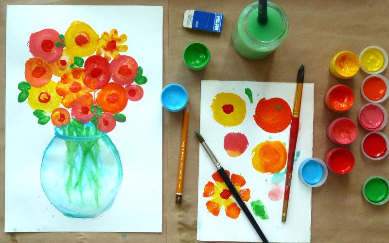 Краски рисовать для малышей