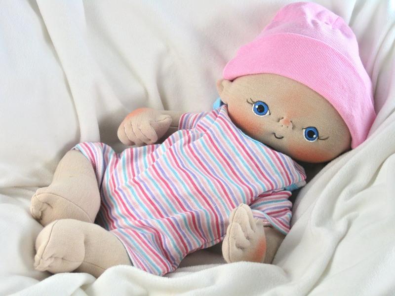 Текстильная кукла малыш своими руками