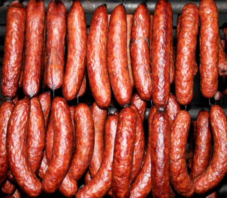 мясная колбаса горячего копчения рецепт