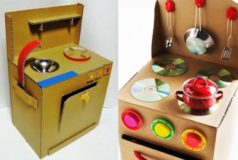 Плита из картона для кукол