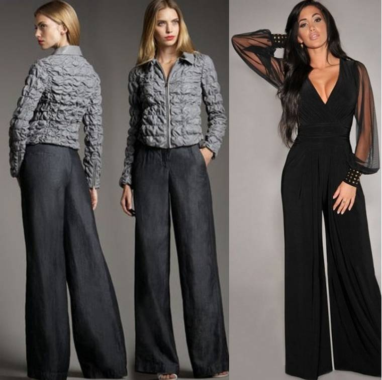 Брюки-юбка большого и маленького размера: образ, фото моделей и фасонов