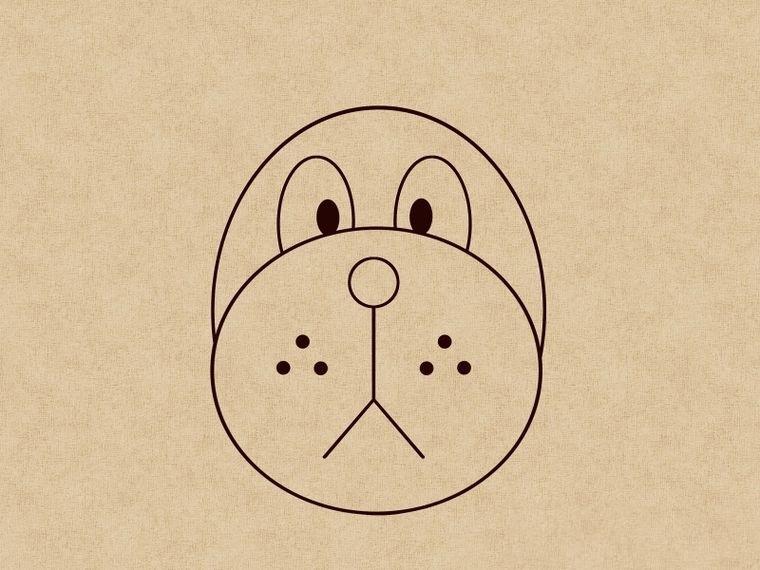 Как нарисовать щенка: шаг 6
