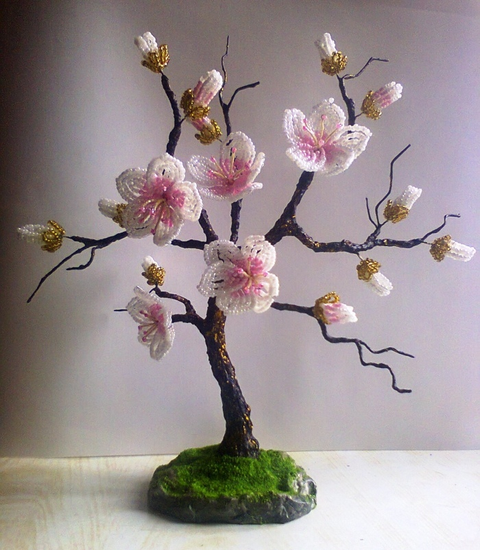 Сакура цветок фото из бисера
