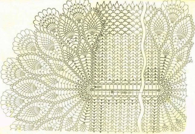 Как связать крючком красивую белую ажурную салфетку овальную: схема