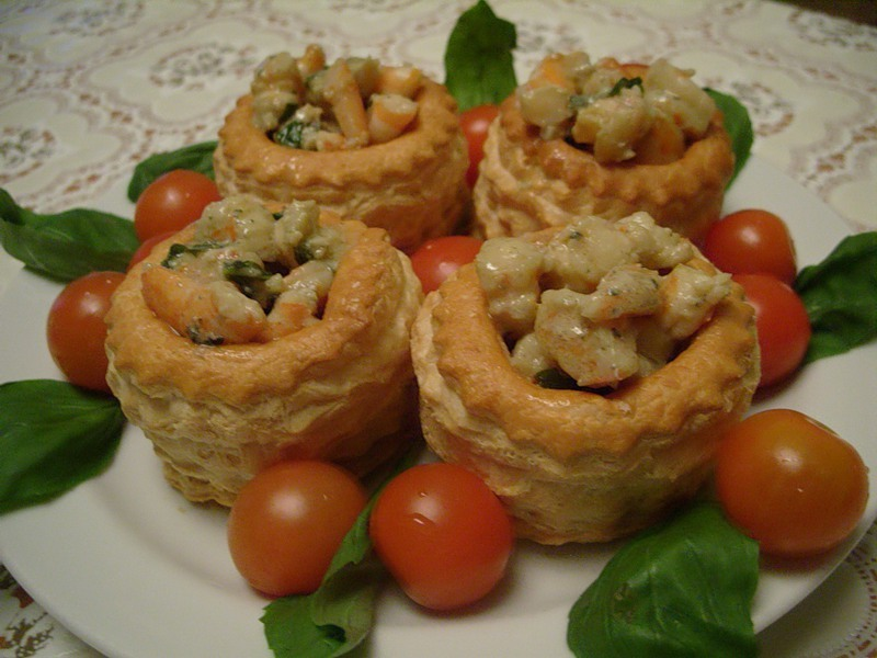 Тарталетки с начинкой из шампиньонов рецепты