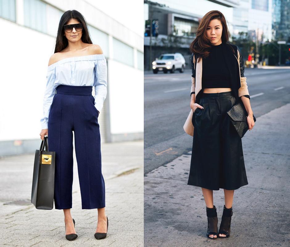 Юбка-брюки: с чем носить летом и зимой?