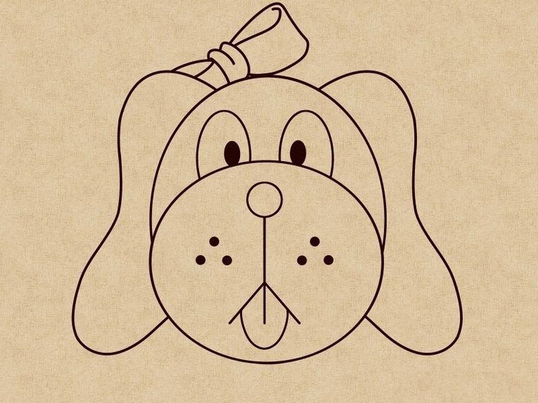 Как нарисовать щенка: шаг 8