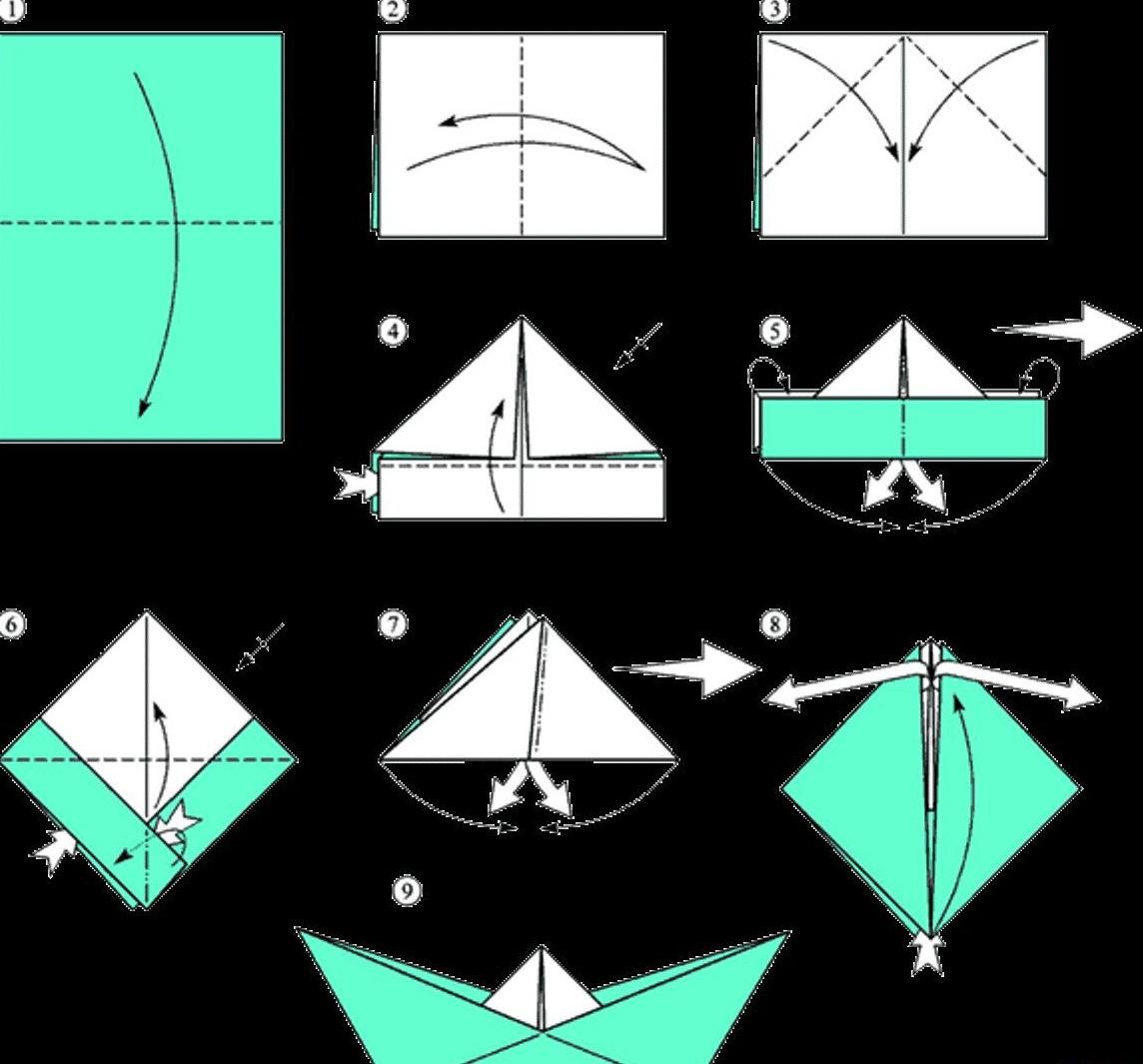 Как сделать из а 4 лодку