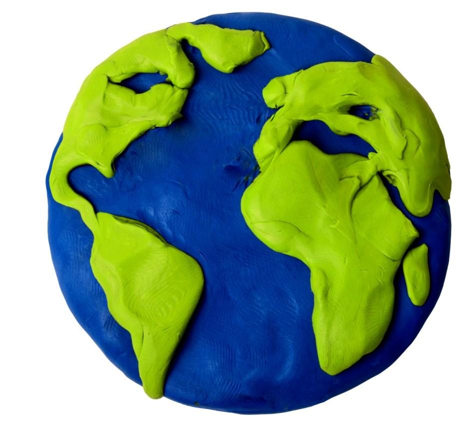 Поделка глобус своими руками из пластилина
