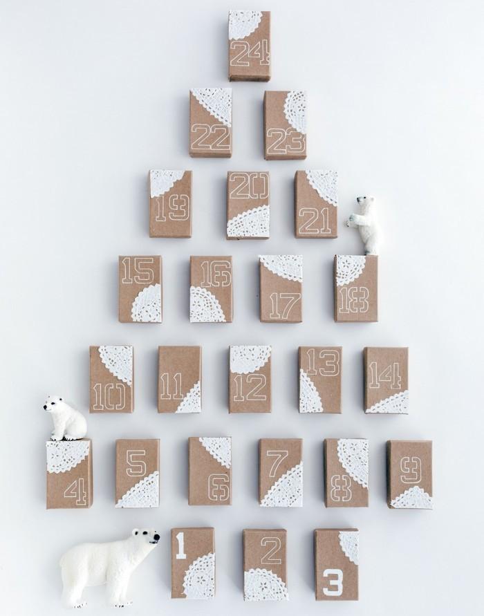 Адвент-календарь в виде елочки