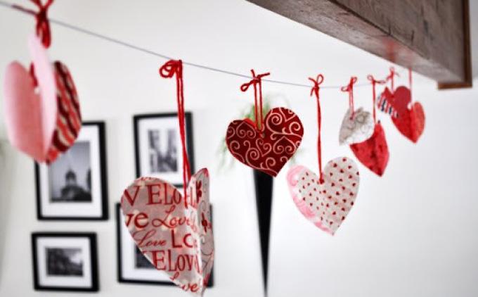 Декор своими руками к дню святого валентина