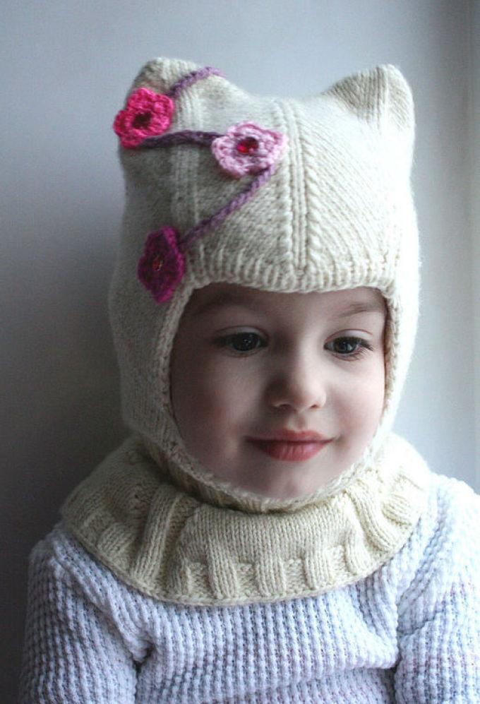 Вязание шапочек шлем для девочек