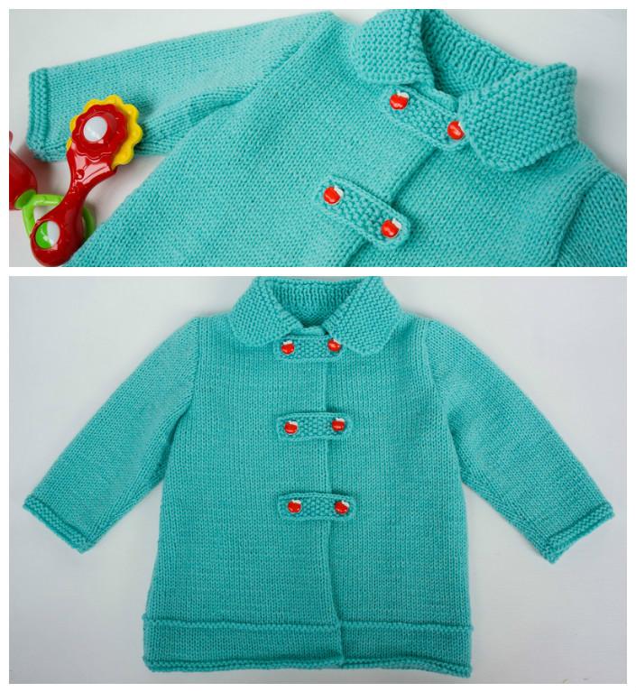 Как связать воротник к детскому пальто