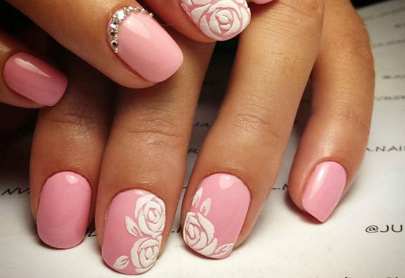 Ногти пудра дизайн ногтей