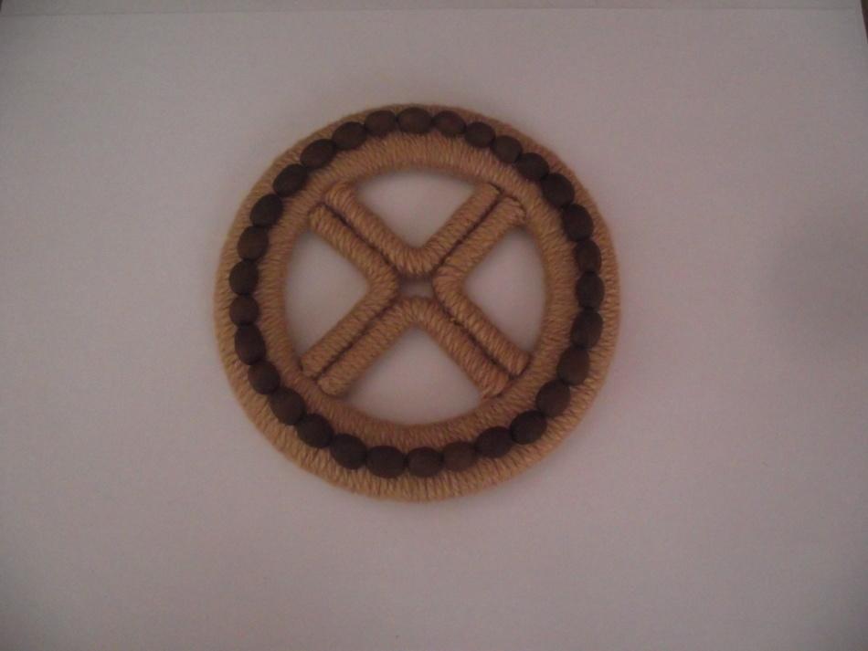 Декорированное кофе колесо для кашпо